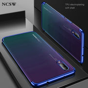 Plating Transparent Soft Case For Huawei Y6 Prime 2018 Mate20 Lite PRO MATE20RS MATE20X Y9 2019 Nova 3 3i 2PLUS Honor Note10 8X