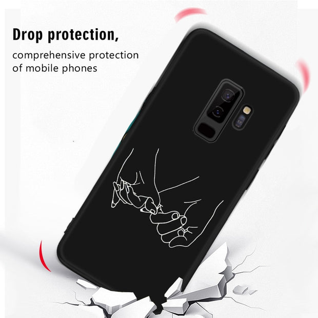 Printing TPU Pattern Case For Samsung Galaxy A7 2018 A750 A5 2017 A9 A8 A6 Plus 2018 A6S Lovers Night Fashion Mobile Phone Cover