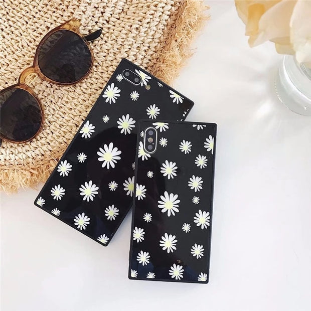 ProElite Soft Silicon+PVC Phone Case For IPhone X 8 8 Plus INS Vintage Shell Flower Capa For IPhone 7 7 Plus 6 6S 6 6S Plus