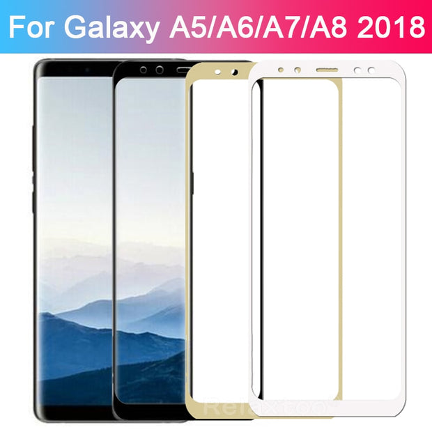 Protective Glass For Samsung A6 Plus 2018 A5 A7 A8 Case Tempered Glass On The For Galaxy A7 2018 Sansung A 6 7 8 6a Screen Film