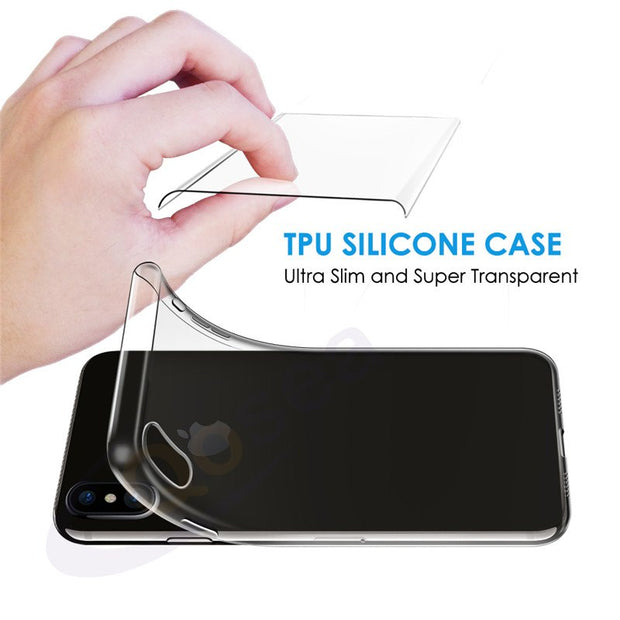 Qosea For IPhone X Case Shockproof Transparent Slim Silicone Soft TPU Skin For IPhone X Protective Ultra-thin Phone Back Cover