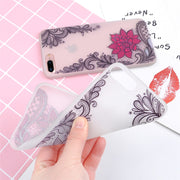 Ranipobo Luminous Silicone Phone Case For Iphone XS Max XR X 6 7 8 Plus 3D Lace Flower Girl Soft Back Cover Case For IPhone X