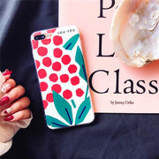 Retro Summer Leaf Phone Case For Iphone X Case For Iphone 6 6S 7 8 Plus Back Cover Fashion Ultra Slim Soft TPU Cases Capa