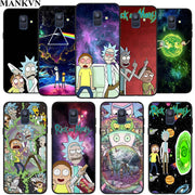 Rick And Morty Silicone Phone Case For Samsung Galaxy A6 A6+ A8 A8+ 2018 A8 A9 Star Lite Soft Black Coque Fundas