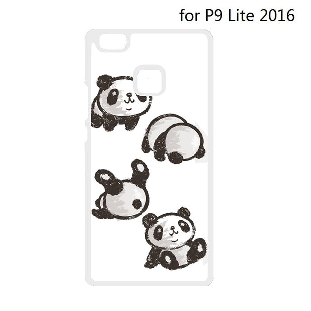 Rolling Panda Cover Case For Huawei Ascend P7 Mini P8 P9 P10 Lite P9 P10 Plus For Xiaomi Redmi 2 3 Note 2 3