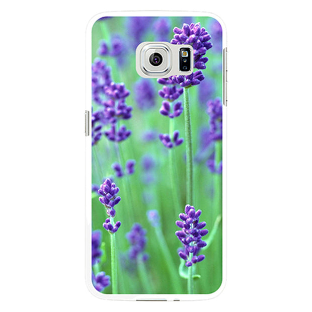 Romantic Lavender Print Case Cover For IPhone 4 4S 5 5C SE 6 6S 6Splus 7 7Plus Mobile Phone Case Cover
