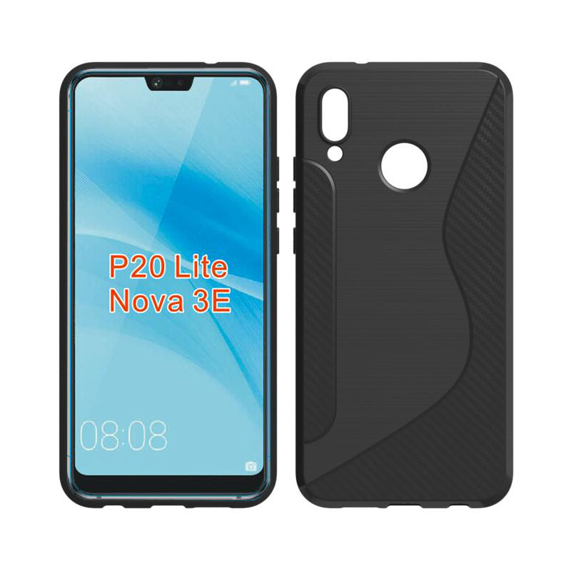 S Line Black Silicone Case For Huawei P20 Lite Funda Coque Hoesje Carb Copper Cases