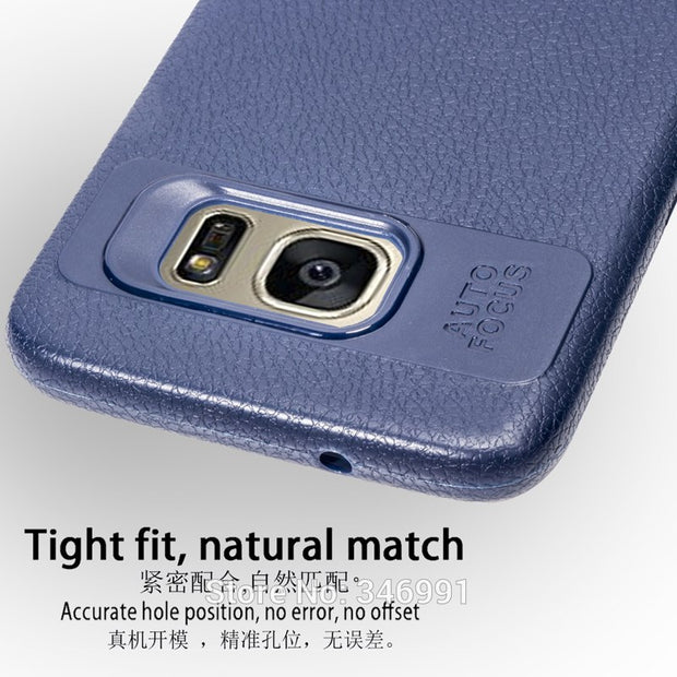 "S7 Edge Cases For Samsung Galaxy S7 Funda 5.1 Inch Soft Silicone Case Leather Phone Cover For Samsung Galaxy S7 Edge 5.5"" Capa"