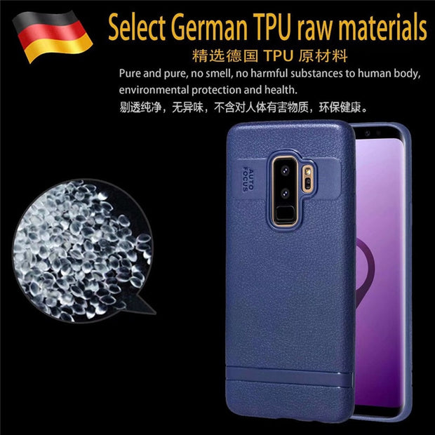 S8Plus Case On For Samsung Galaxy S8 S9 Plus Case Luxury Soft TPU Leather Cover For Samsung S7 Edge Full Cover Case Coque Fundas