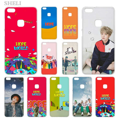 SHELI ARMY Bangtan Boys BTS SUGA Transparent Hard Phone Case Cover For Huawei P8 P9 P10 P20 Lite 2017 Plus Pro Mate 10