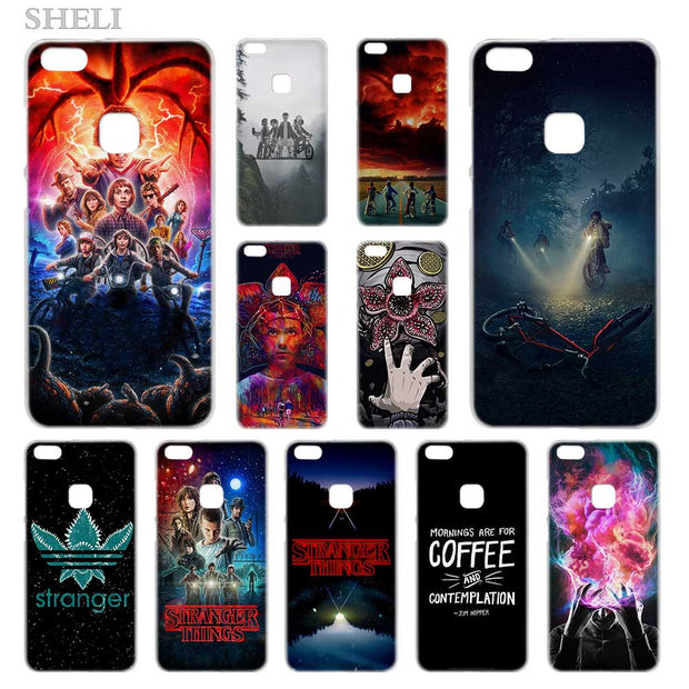SHELI Stranger Things Transparent Hard Phone Case Cover For Huawei P8 P9 P10 P20 Lite 2017 Plus Pro Mate 10 Lite