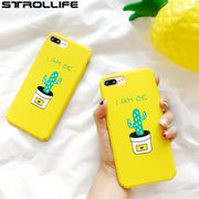 STROLLIFE Cartoon Plants Cactus Painted Phone Cases For Iphone 7 Case Slim Hard PC Back Cover Capa For Iphone 7Plus 6 6S Coque