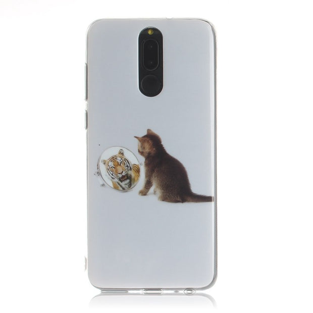 STROLLIFE Lovely Cats Phone Case For Huawei P20 Pro Funny Cartoon Cover For P10 Lite Nova3 3i Look In The Mirror Soft TPU Shell