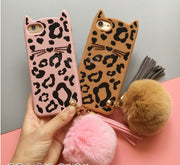 SYCASE Cute Cartoon Leopard Cat Silicone Shell For IPhone X Xs Max Xs Xr 6 6s Plus 6 7 Plus 8 Plus Case Anti-fall Hairball Women