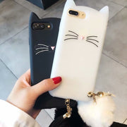 SYCASE Cute Beard Cat Shell For Samsung Galaxy J2 J5 J7 Prime J2Pro J3 J4 J6 J8 2018 Hairball Cartoon Silicone Drop Cover Women