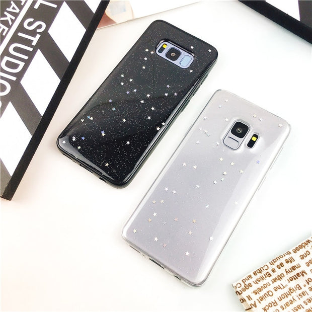 Shining Star Bling Glitter Soft TPU Case For Samsung Galaxy A6 A8 J6 2018 S8 S9 Plus Note 5 8 9 S7 Edge A3 A5 A7 J3 J5 J7 2017