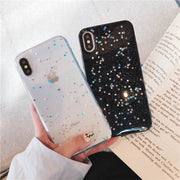 Shiny Star Glitter Epoxy Transparent Clear Phone Shell For OPPO A3 A5 A57 A59 A73 A77 A79 A83 Soft TPU Rubber Gel Back Case