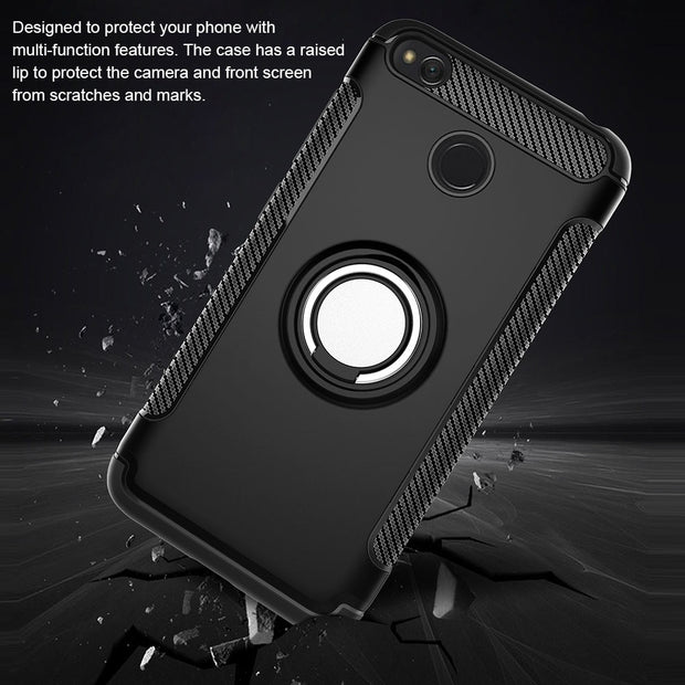 Shockproof Case For Xiomi RedMi 5 Plus Note 5A Stand Magnetic Bracket Finger Ring Case For Xiaomi Mi A1 A2 Redmi 4X Note 4X Case