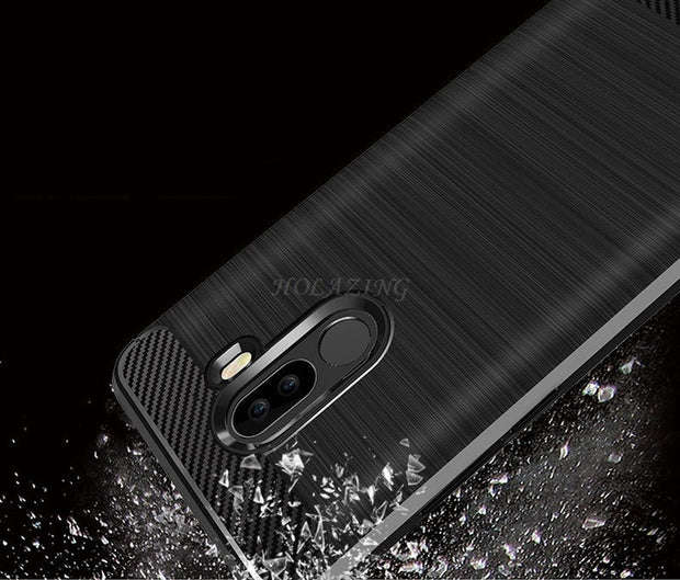"Shockproof Silicone Bushed Soft Armor Protective Case For Xiaomi Pocophone F1 6.18"" Poco F1 Resilient Drop Anti-Scratch Cover"