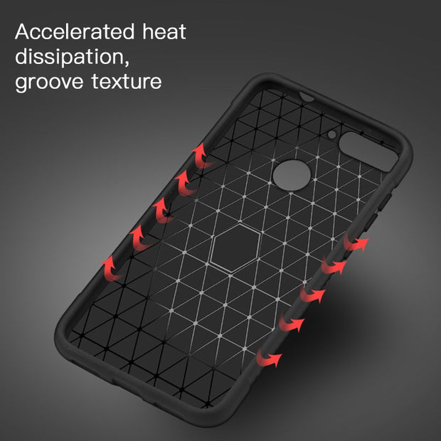 Shockproof Soft TPU Silicone Case For Huawei P20 Pro P8 P9 Mate 10 Lite Nova 3e Y6 Y7 Y9 2018 Heat Dissipation Case Cover Fundas