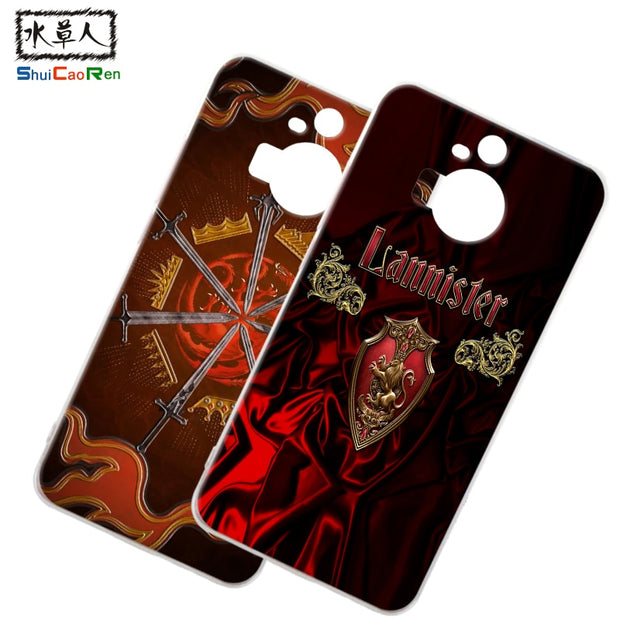 ShuiCaoRen Silicone Case For HTC M9 Plus M9+ Retra Game Of Thrones Cover Phone Coque Ice And Fire Fundas For HTC One M9