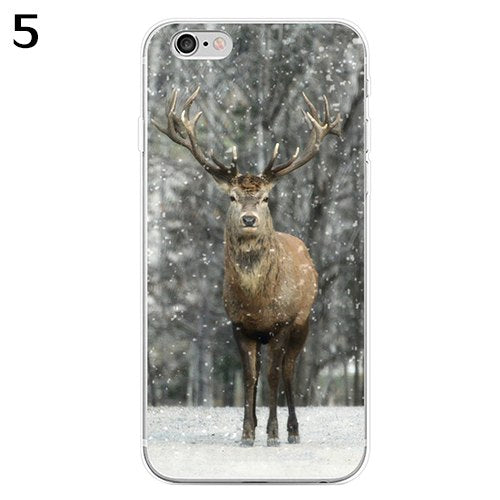 Sika Deer 3D Print Phone Case Cover For IPhone 5 6S 7 Plus