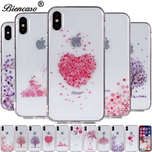Silicon Phone Case For IPhone 7 8 Plus Floral Cases For IPhone X 6S Plus 5S SE 5C Soft TPU Cover For IPod Touch 5 6 Coque B67