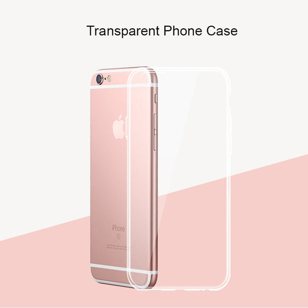 Silicone Anti-Knock Transparent Clear Case Crystal Clear Back Cover TPU For IPhone 7 7 Plus 6 6s 5 5s SE Phone Case Coque Capa
