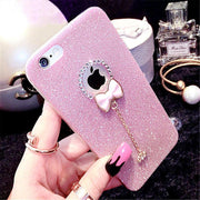 Silicone Bling Glitter Diamond Phone Case For Iphone 7 8 Plus Cases Funda For Iphone 6 6s Plus 5 5s Se X 10 Coque Capa Cover