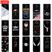 Silicone Case Cover For Samsung Galaxy A6 A8 2018 S8 S9 PLUS Soft Coqa A600 A605 A530 A730 Full 360 Protective Shell Funda