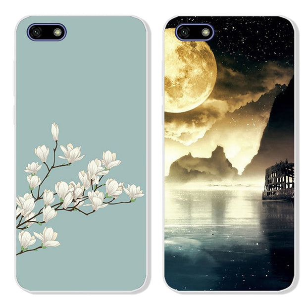 Silicone Case For Huawei Honor 7A DUA-L22 5.45 Case Russia Cute Cartoon Soft TPU Back Cover For Huawei Honor 7A Honor 7S Case