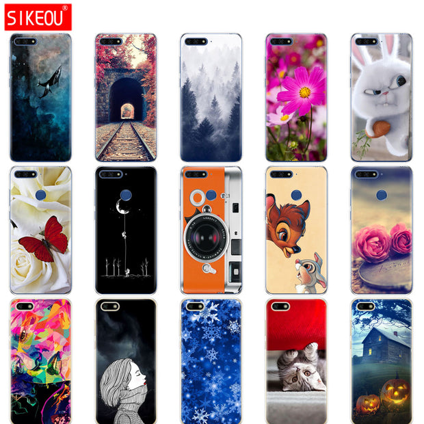 Silicone Case For Huawei Honor 7A PRO Case Huawei Y6 2018 Prime Cover Huawei Y5 2018 Prime Y9 Phone Back Cover Soft Funda Coqa