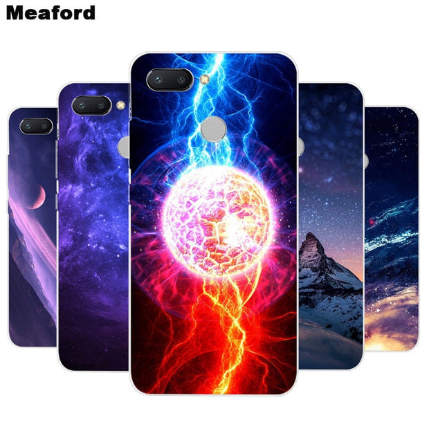 Silicone Case For Xiaomi Redmi 6 5.45 Inch Cover Soft Phone Case Space Print For Xiaomi Xiomi Redmi 6 Redmi6 Clear Bumper Coque
