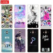 Silicone Cover Phone Case For Huawei Mate 7 8 9 10 Pro LITE BTS Fake Love Bangtan Boys