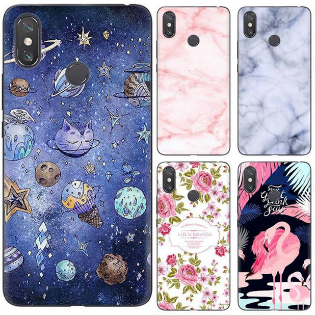 Silicone For Xiaomi Mi Max 3 Case Cartoon Painted Soft TPU Slim Cover For Xiaomi Mi Max3 Cover Coque Mimax3 Mobile Phone Ky306