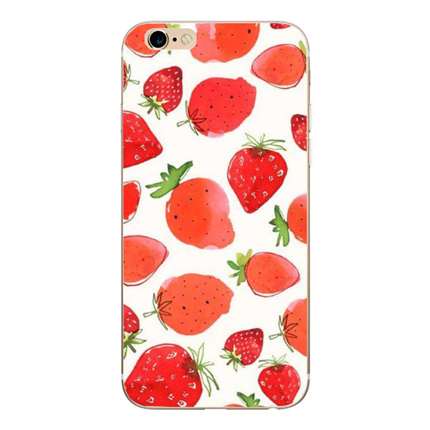 Silicone For IPhone 6 6S 7 8 Plus 5 5S SE Case Cartoon Painted Mobile Phone Cover Shell For IPhone 6 6S TPU Protective Fundas