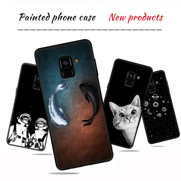 Silicone Phone Case For Samsung Galaxy S9 S8 Plus S7 S6 Edge Note 8 J7 J5 J3 2017 2016 Back Cover TPU Bumper Protective Fundas