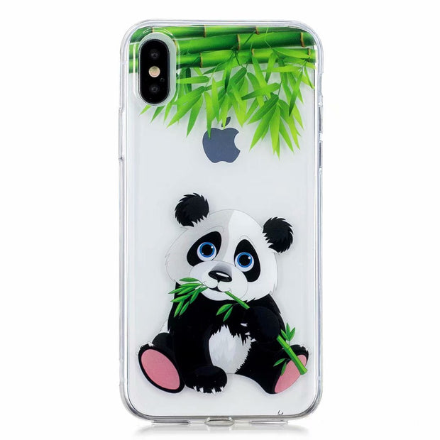Silicone Phone Cover For Samsung A5 A6 A7 A8 Plus 2018 Panda Owl Doughnut Painted Phone Back Case Coque