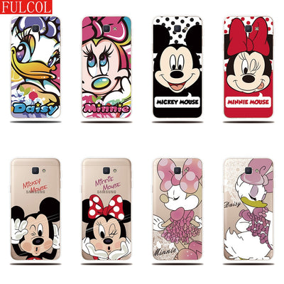 Silicone Case For Samsung Galaxy J7 Prime Case Mickey Minnie Cute Printed Phone Shell For Samsung Galaxy On7 2016 Cover Case