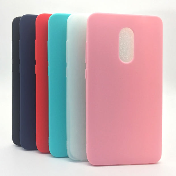 Silicone Matte Case For Xiaomi Redmi Note 4X For Redmi Note4/ Global Version Redminote4 Soft TPU Candy Phone Bag Case Cover
