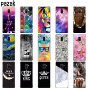 Silicone Phone Case Cover For Samsung Galaxy A6 A8 2018 S8 S9 PLUS Back Cover A600 A605 A530 A730 Bumper Etui Protective Coque