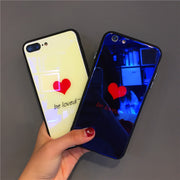 Simple Love For IPhone X 6 XS 6S 7 8 Case Blu-ray Glass Phone Case For IPhone 6 7 6S 8 Plus Case All-inclusive Drop Cover