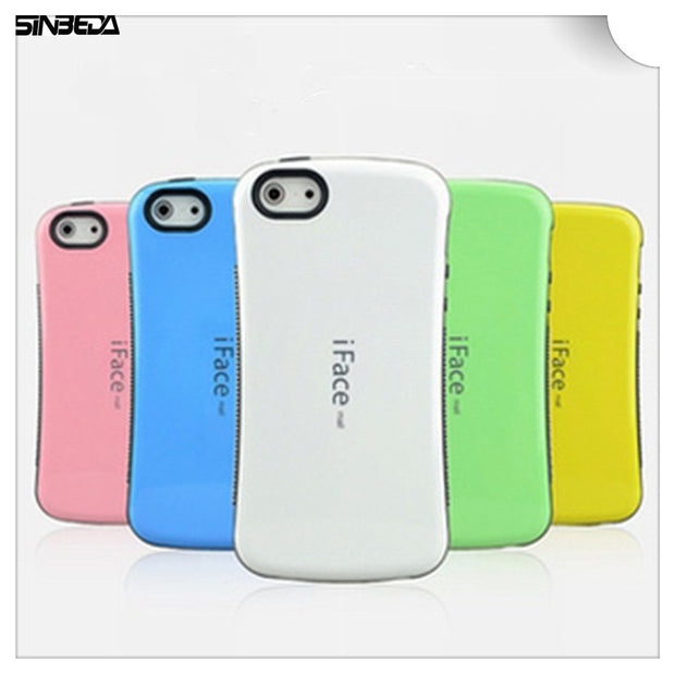 Sinbeda IFace Mall Heavy Duty Shock-Absorbing Soft TPU Silicone Back Cover Hybrid TPU PC For Iphone 4 4S 5G 5S 5C Phone Bag Case