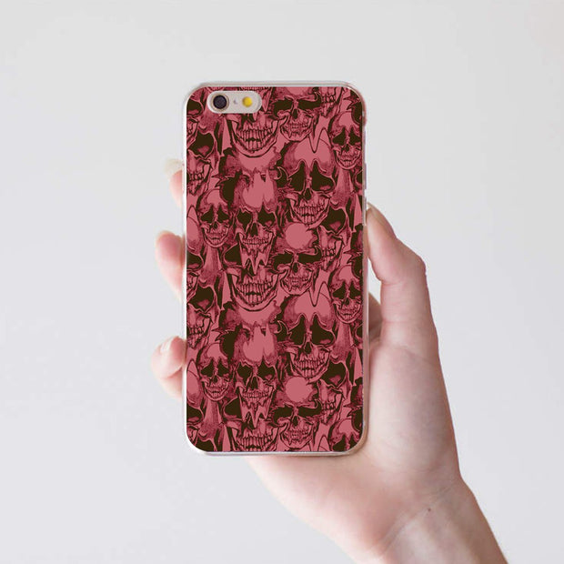 Skull Head Cool Punk Case Cover For IPhone 4 5 5C 6 7 Plus