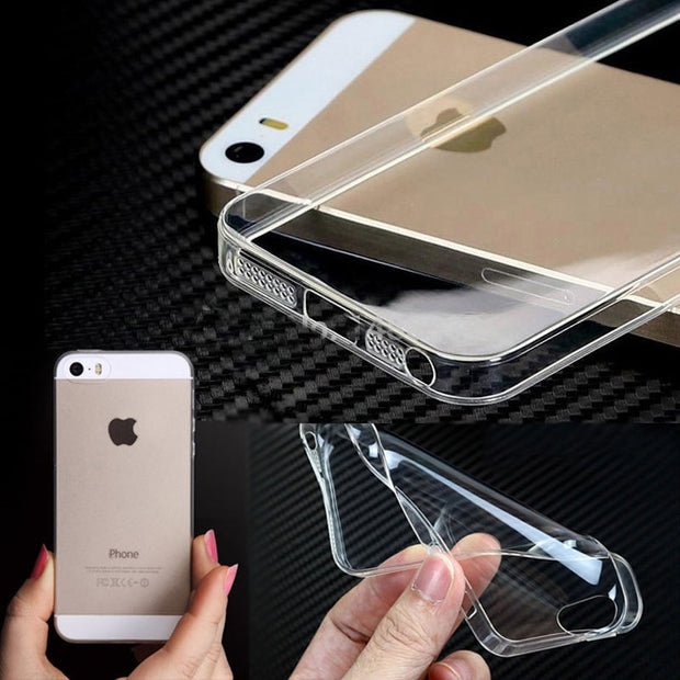 Slim Clear TPU Case For IPhone 4 4s 5 5s 6 6S 6plus 6S Plus Silicon Transparent Phone Back Cover Coque Skin Silicone Case