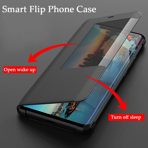Smart Flip Leather Case For Huawei Mate20 Pro P20 Pro Mate20 P20 Lite Cases Flip Phone Cover For Huawei Mate20x P20 Cover