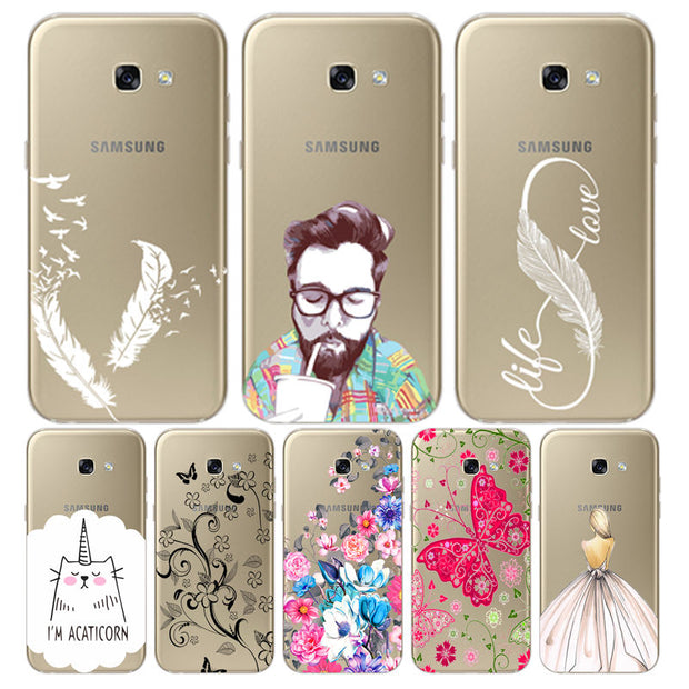 Smart Painted Cover For Samsung A5 2017 Soft TPU Fundas A510 A750 A710 Protective Galaxy A9 2018 A6 A8 Plus Clear Silicone Case