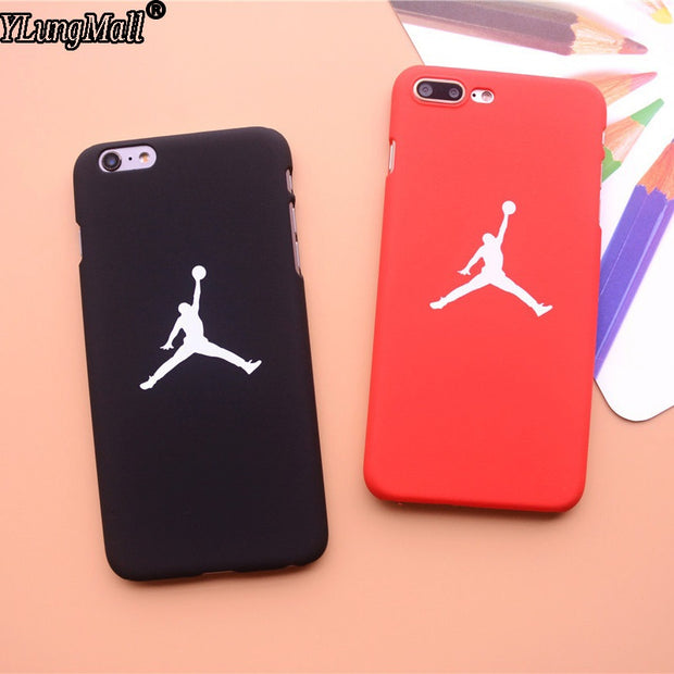 Smooth Feel Fundas Coque Case For Iphone 7 8 Plus 6 6S Plus X SE 5 5s Xs Max XR Case Basketball Hard PC Air Jordan Phone Cover