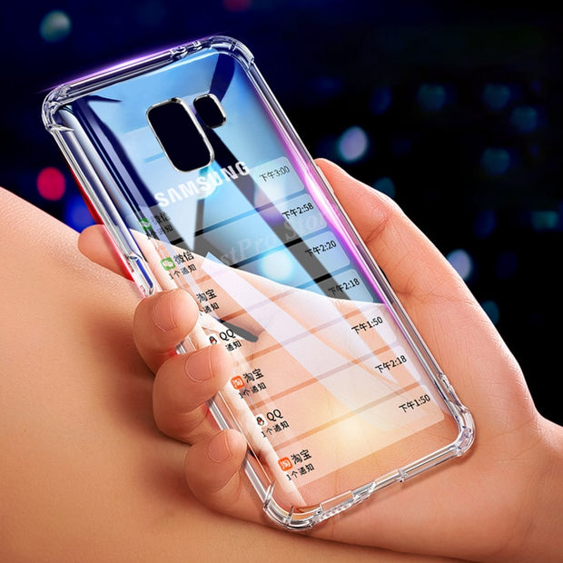 Soft Airbag Silicone Phone Case For Samsung Galaxy S9 S8 Plus Note 8 A6S A8 A9 Plus 2018 J3 J5 J7 2017 J4 J6 2018 Back Cover