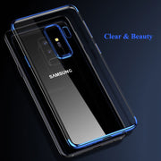 Soft Clear Plating TPU Case For Samsung Galaxy A5 A7 A8 A6 Plus J7 Pro 2018 A3 J3 J5 J7 2017 2016 Note 8 S9 S8 Plus S7 S6 Edge